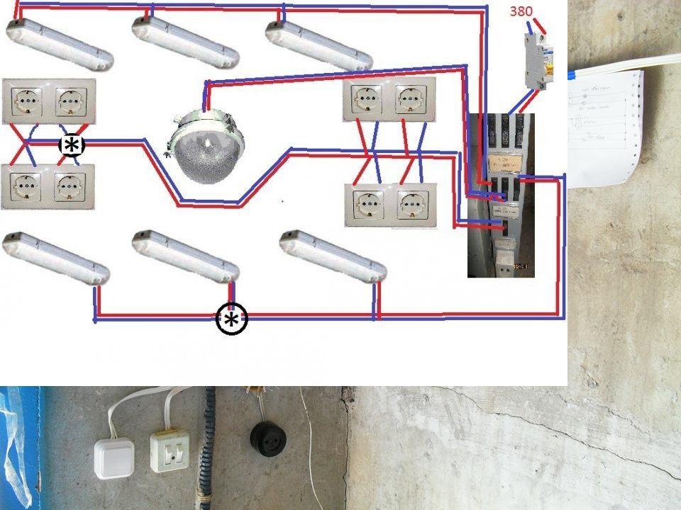 Электропроводка в кирпичном гараже своими руками пошаговая инструкция
