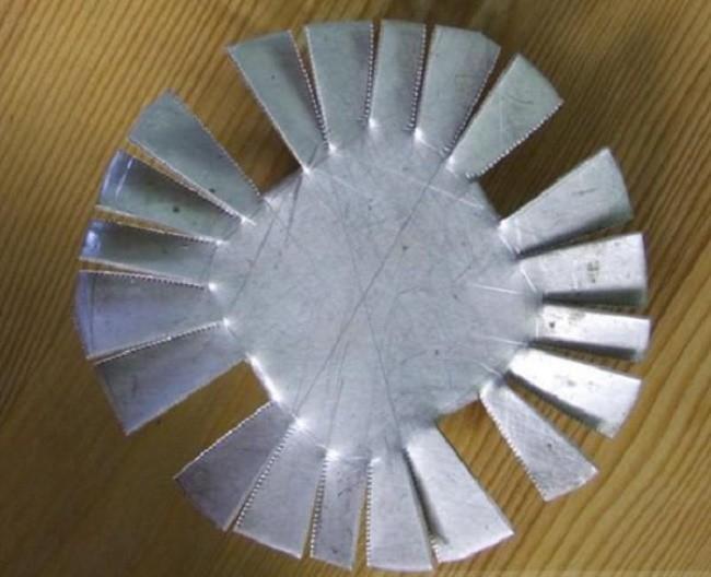 Внешний вид самодельного алюминиевого радиатора