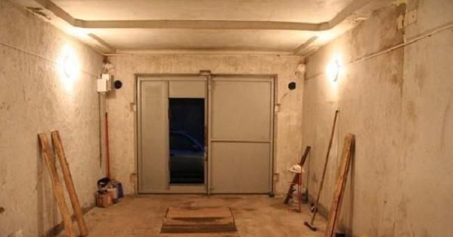 Внешний вид гаража с проводкой