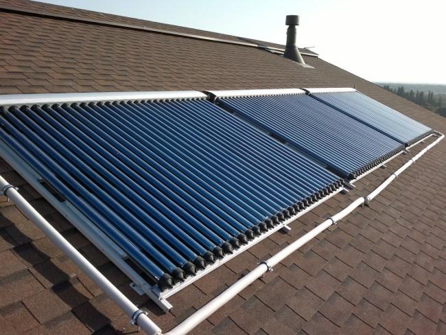 Внешний вид солнечных коллекторов