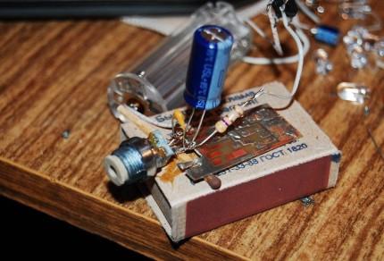 Внешний вид конструкции с лазерным диодом