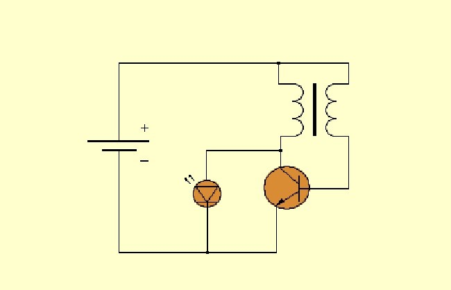 Вариант схемы для фонарика
