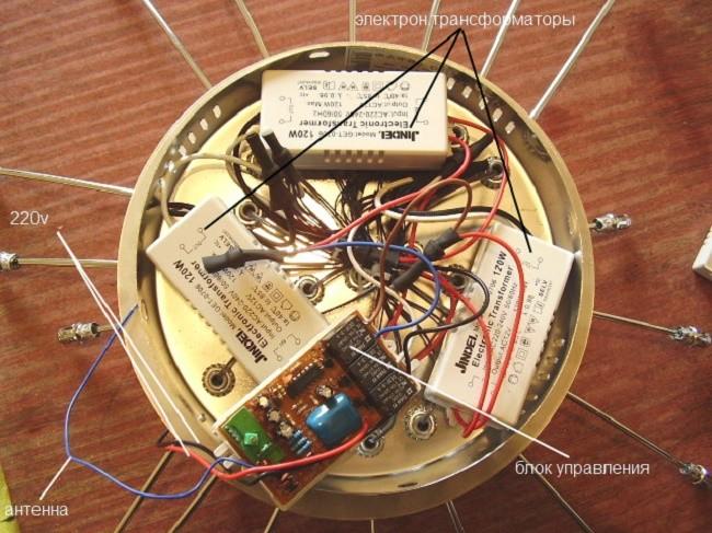 Внутреннее устройство светодиодного светильника
