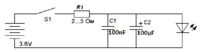 План устройства электросети для лазерного диода