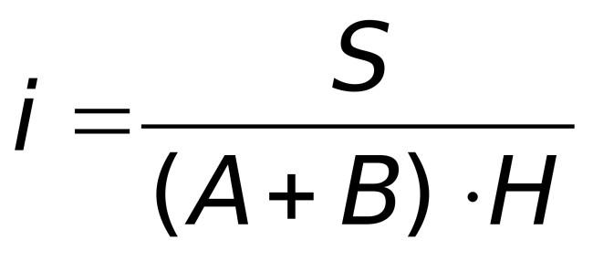 Формула расчета индекса помещения