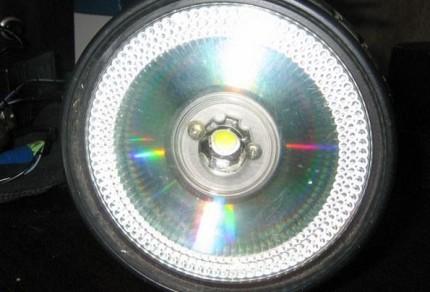 Внешний вид самодельного светодиодного светильника