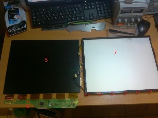 Внешний вид матрицы монитора
