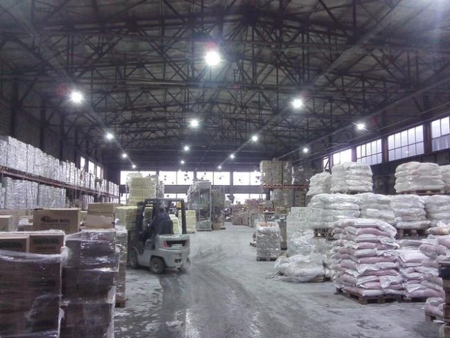Рабочее освещение склада