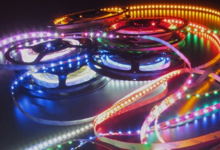 Разноцветные светодиодные ленты