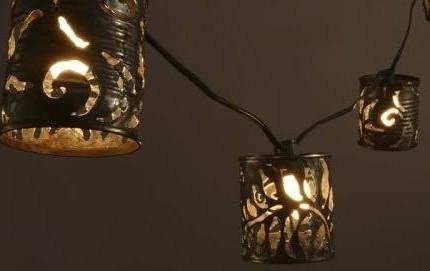 Светильники из банок