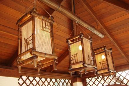 Светильники из бамбука