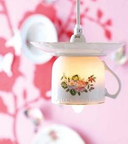 Светильники из чашек