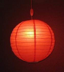 Лампа в виде китайского шарика