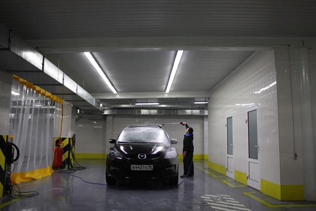 Освещение автомойки