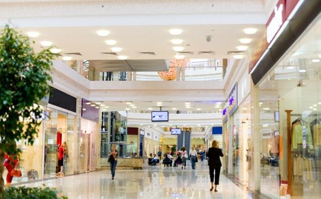 Освещение в торговом центре