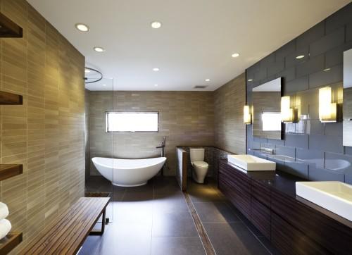 Применение точечных светильников в ванной