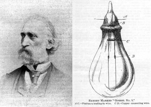 Изобретатель и первая практичная лампочка накаливания