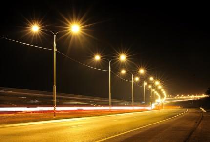 Организация освещения дороги