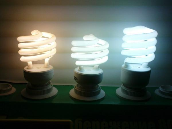 Вариант свечения ламп