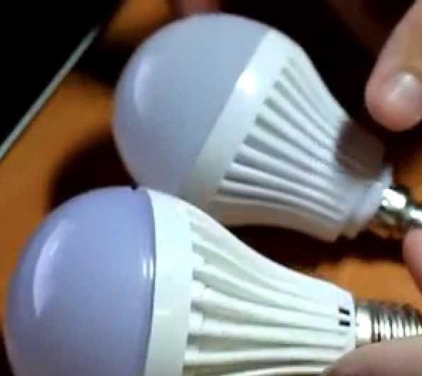 Вариант светодиодных ламп
