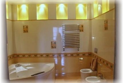 Варианты организации освещения ванной