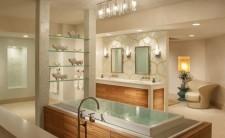 Оформление освещения в ванной