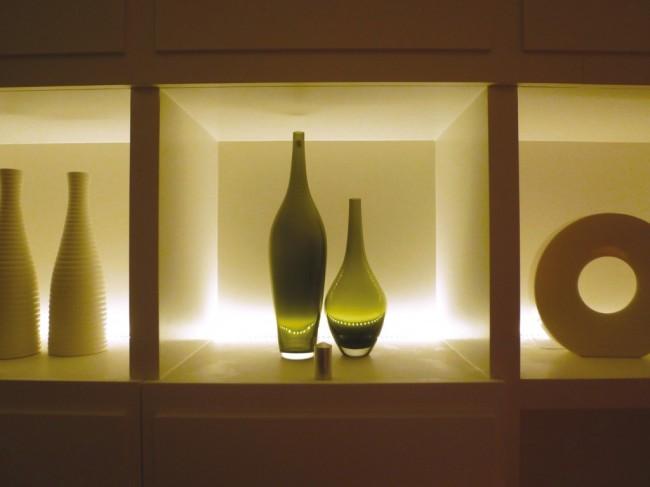 Внешний вид ниши со светодиодной продсветкой